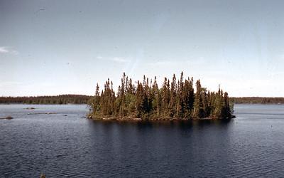 Island on Sasiganaga Lake