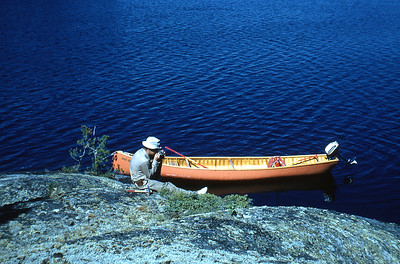 Bob Smithson on Sasiganaga Lake