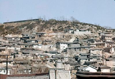 Shacks on outskirts of Seoul