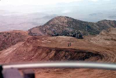 Construction on hill