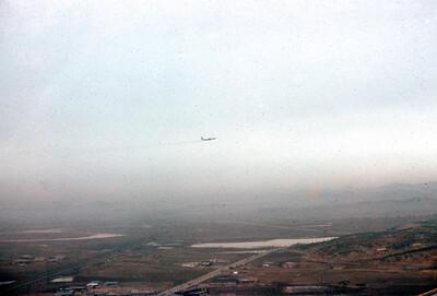 Plane landing Osan AB.