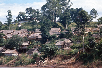 Laos village on Mekong River
