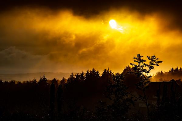 Sunset over Lye