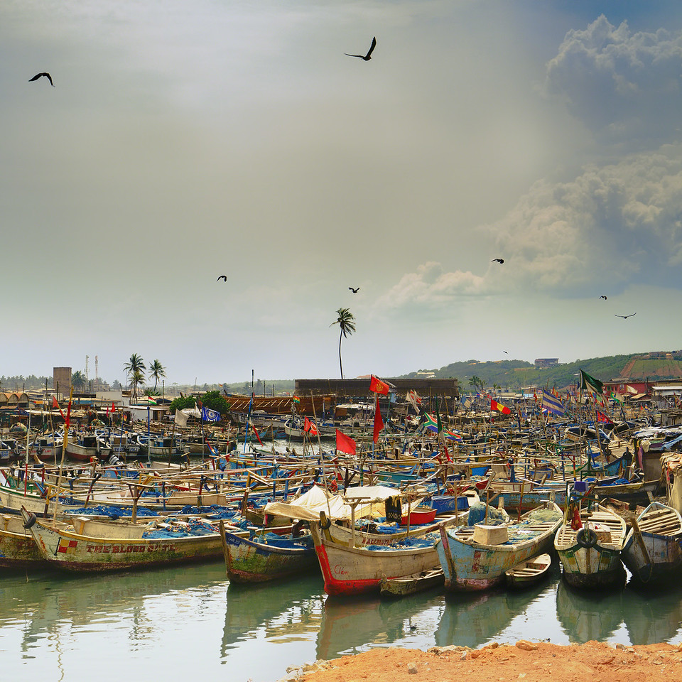 Elmina Shores Fishing Boats