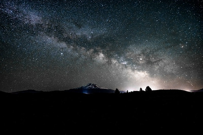 Milky Way Over Mount Shasta