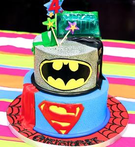 Super Heroes Cake….YUM!!