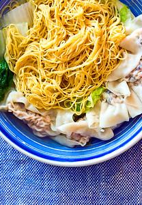 Shrimp dumpling with noodles