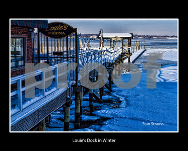Louie's Dock in Winter with Border