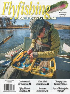 Flyfishing & Tying Journal, women in fishing cover and feature photo essay.  August 2016.
