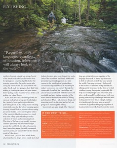 Japan fly fishing expedition feature, writing and photography. Chasing golden char in Lake Akan region, Hokkaido.  Fieldsports Magazine, U.K. December 2017.