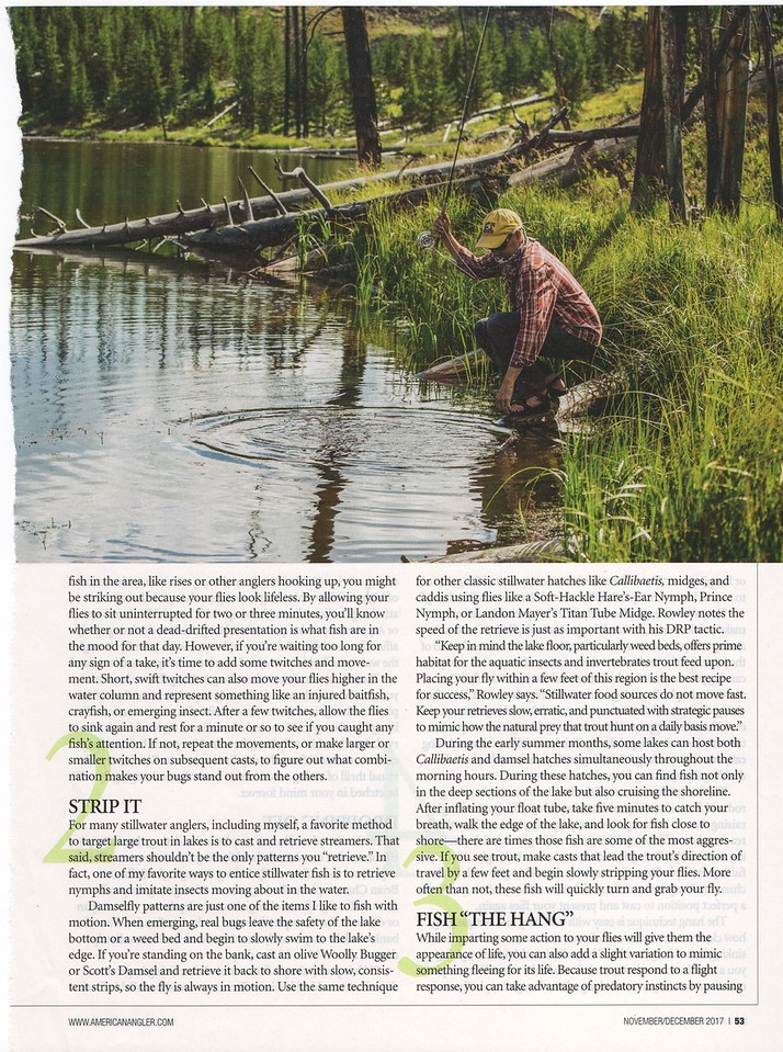 Backcountry Absaroka-Beartooth Wilderness lake fishing image. <br /> <br /> American Angler, October / November 2017.