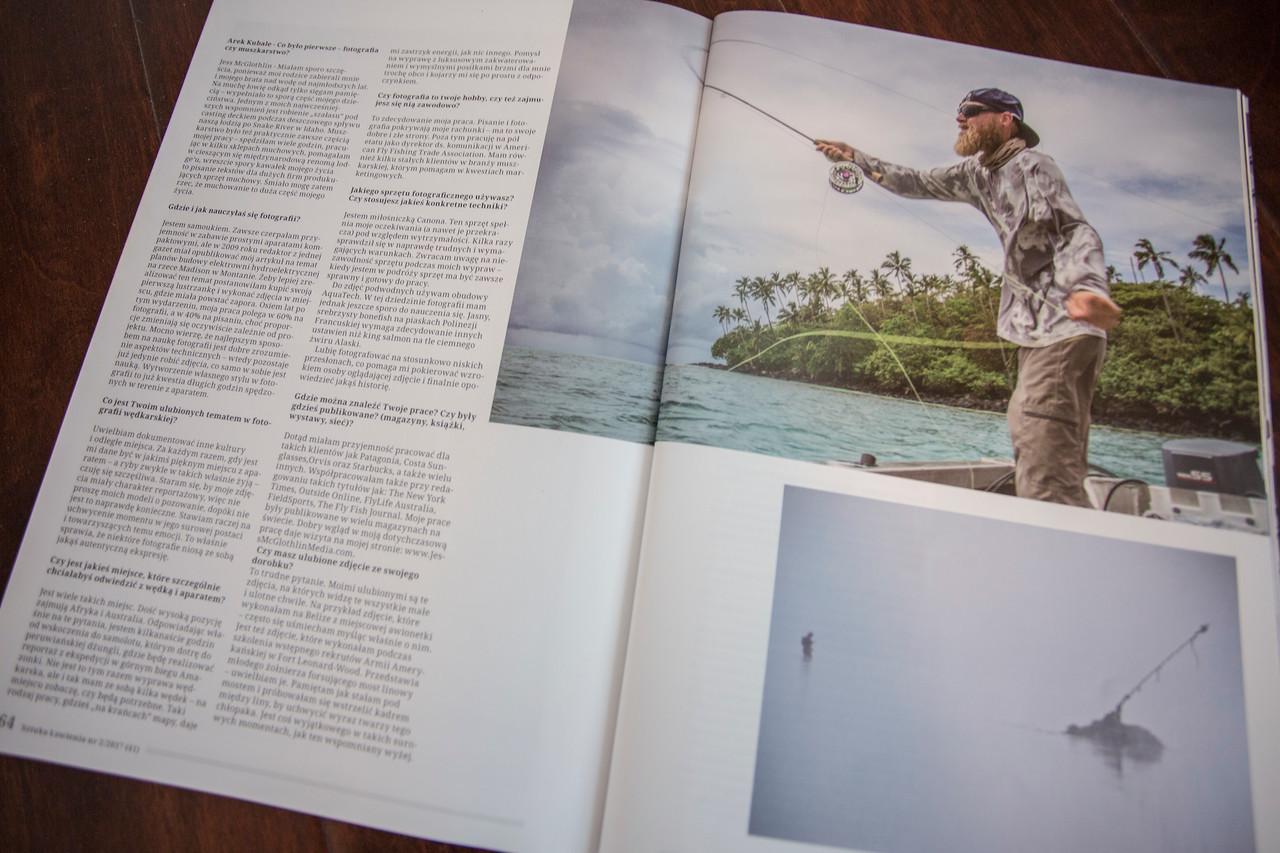 Photographer interview in Polish magazine Sztuka Lowienia.<br /> <br /> July 2017.