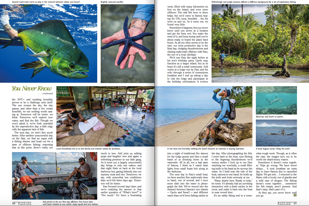 Flylife Magazine Australia, Samoa feature.<br /> <br /> Images + words. March 2017.