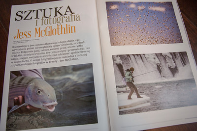 Photographer interview in Polish magazine Sztuka Lowienia.  July 2017.
