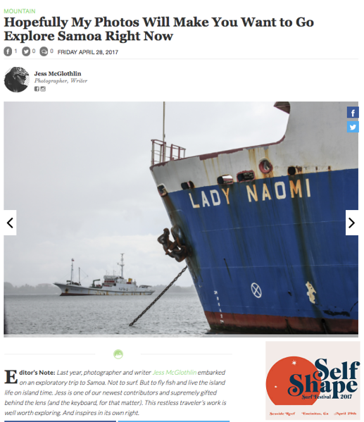 Samoa feature online, for The Inertia.<br /> <br /> April 2017.