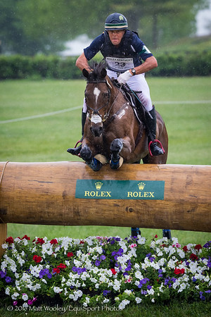 Kyle carter and Madison Park in Cross Country portion of the Rolex 3-Day Event at the Ky. Horse Park 4.30.16.