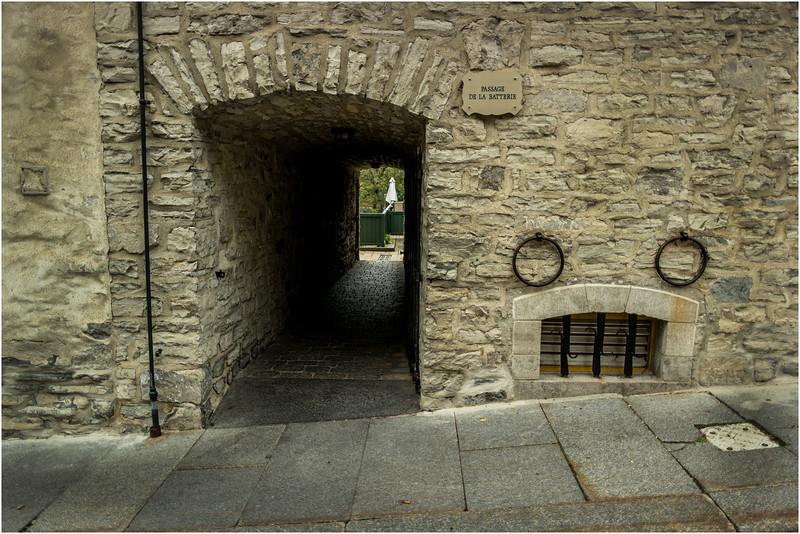 Canada Quebec City Old Town September 2015 Cote de Sous Le Fort  Passage De La Batterie