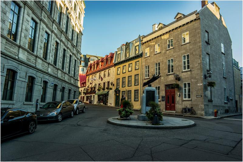 Canada Quebec City Upper Old Town September 2015 Rue Des Jardins Evening
