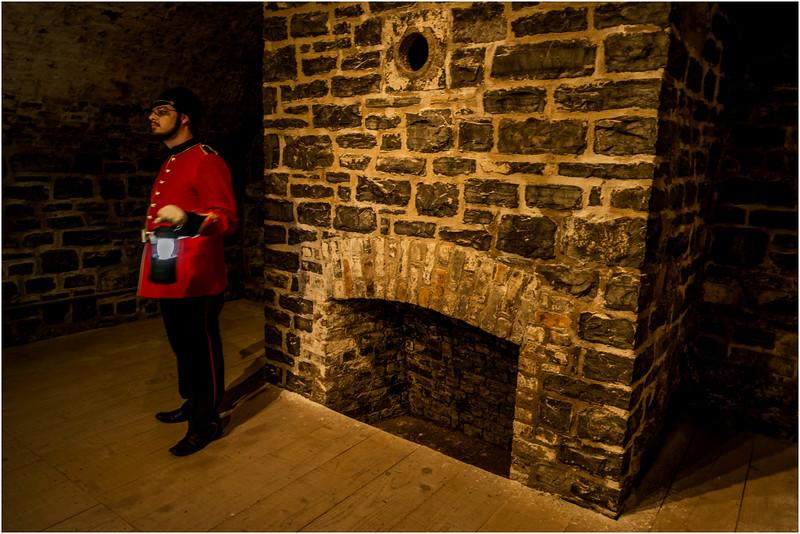 Canada Quebec City Upper Old Town September 2015 Nightime Tour of the Citadel Barracks
