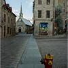 Canada Quebec City Old Town September 2015 Rue De Notre Dame Quebec History Mural and Notre dame De Victoires
