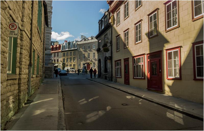 Canada Quebec City Upper Old Town September 2015 Rue Donnaconda