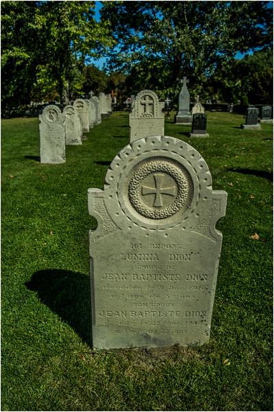 Canada Isle D'Orleans St Laurent Eglise Saint Francoise 1734 Graveyard