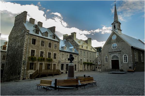 Canada Quebec City Old Town September 2015 Place Royale Notre Dame de Victoires 2
