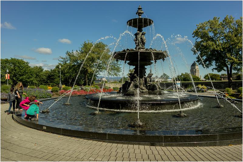 Canada Quebec City September 2015 Fontaine de Tourny