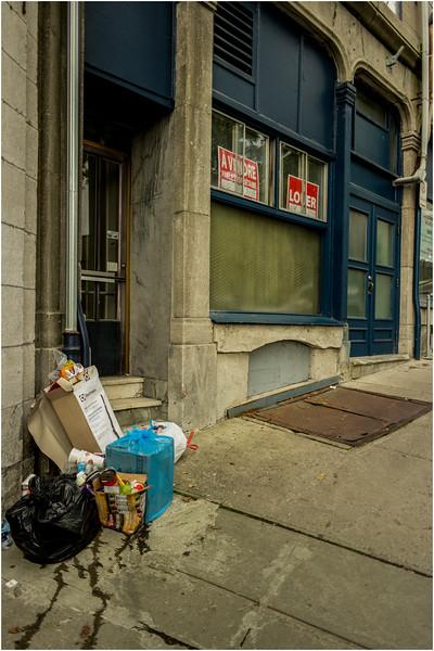 Canada Quebec City Old Town September 2015 Cote De Montagne Trash