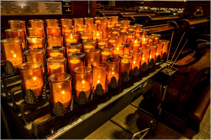 Canada Quebec City Upper Old Town September 2015 Basilique De Notre Dame Candles