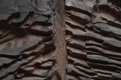 North Canyon. 20.8 mile. Supai Formation: cross bedded sandstone.