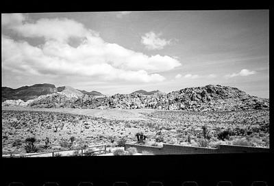 Red Rock (taken through a window), April 2014.
