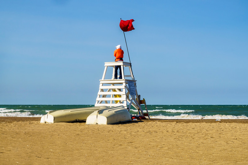Red Flag Day on the Beach