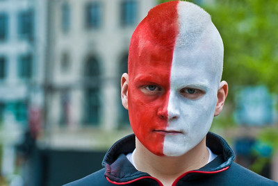 The Man with the Half Red Face