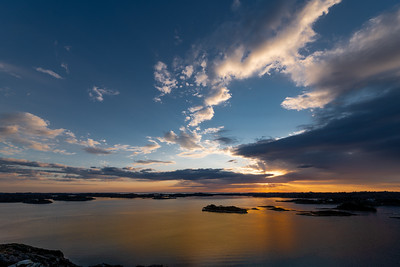 Sunset from Ljosnaren