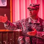 Preparing for night exercises during U.S. Army recruit training. Fort Leonard Wood, Missouri.