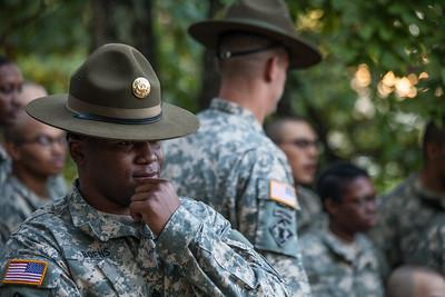 Drill sergeants. U.S. Army recruit training. Fort Leonard Wood, Missouri.