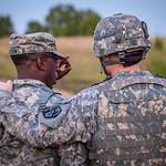 Preparation for nighttime exercises during U.S. Army recruit training. Fort Leonard Wood, Missouri.