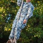 Showing the boys how it's done. U.S. Army recruit training. Fort Leonard Wood, Missouri.