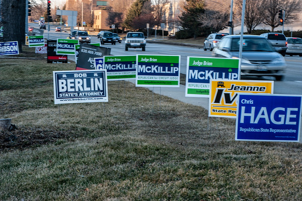 Campaign signs near Roosevelt Road