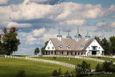 Manchester Farm, a well known landmark adjacent to Keeneland 9.08.2012