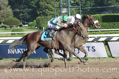 Colonel John (Tiznow), Garrett Gomez up, wins the Travers at Saratoga 8.23.2008sk (No Photo Credit Please)