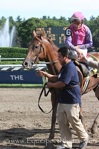 Porte Bonheur (Hennessy), Ramon Dominguez up, wins the Victory Ride at Saratoga 8.23.2008sk
