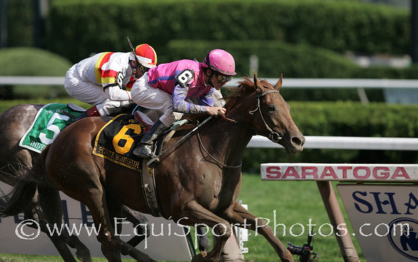 Porte Bonheur (Hennessy), Ramon Dominguez up, wins the Victory Ride at Saratoga 8.23.2008tb