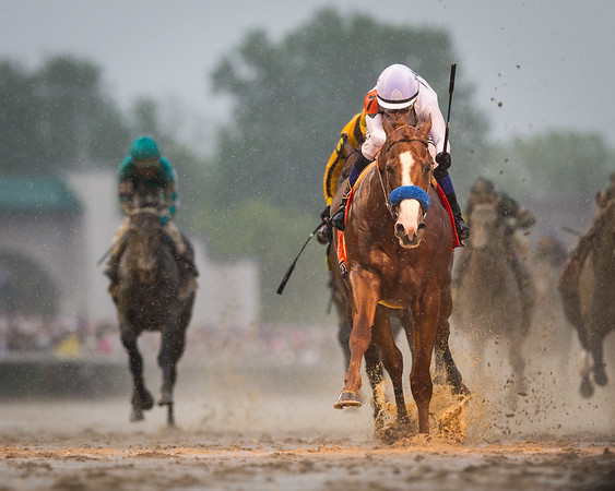 Justify (Scat Daddy) wins the 144th Kentucky Derby (G1) at Churchill Downs on 5.5.2018. Mike Smith up, Bob Baffert trainer, WinStar Farm, China Horse Club, Starlight Racing and Head of Plains Partners owners.