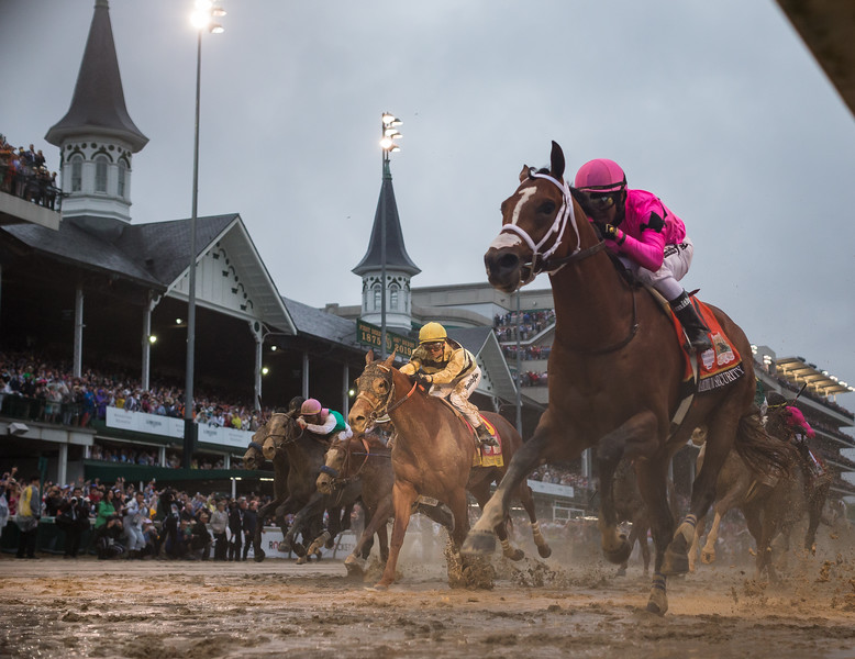 Country House (Lookin At Lucky) wins the Kentucky Derby after a lengthy objection. Flavien Prat up, Bill Mott trainer and Mrs. JV Shields, EJ McFadden and LNJ Foxwoods owners.