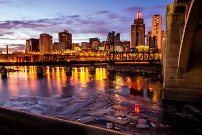 River Ice in St Paul