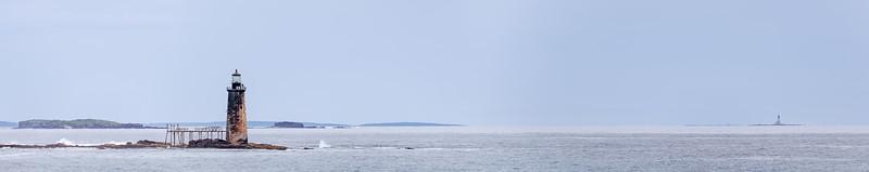 Ram Ledge Lighthouse in Casco Bay, Maine.