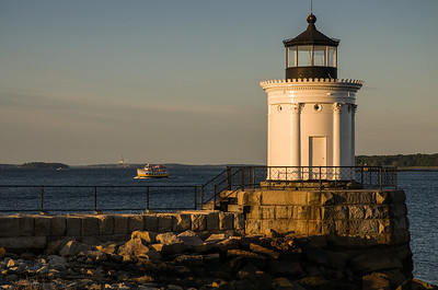 Afternoon light on Bug Lighthouse in South Portland, Maine.