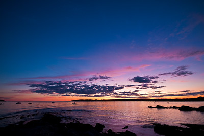 Sunset over Kettle Cove.